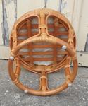 Pouf tabouret bambou et rotin, Pier Import, années 80