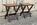 Tabouret ancien en bois acajou, assise cannée, vintage années 50 / 60