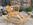 Cheval de bois à bascule, jouet enfant, vintage