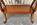 console empire pied lyre et pattes de lion en métal, merisier, vintage, années 60