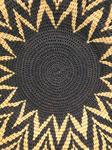 Panier tressé africain, bicolor, Bostwana, panier mural