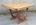 Table Art Déco, années 30, bois massif, allonges