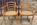 Paire de fauteuils cannées bois blond, vintage, années 60