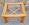 Table basse design scandinave, bois massif et verre, vintage, années 70