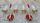 Paire appliques épi de blé, rouge, double feux, vintage, années 50, stilnovo